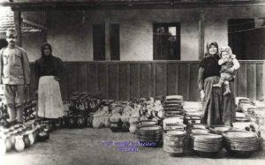 Fazekasporta cserépedényekkel-1920-as évek