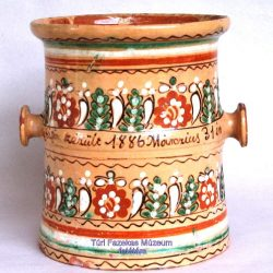 Jellegzetes díszű túri edény (bödön) 1886-ból