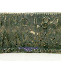 Korsós céh kalamárisának (1840) hátsó oldala