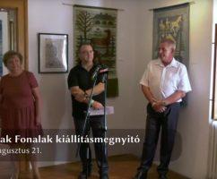 Vonalak Fonalak kiállításmegnyitó 2020. 08. 21.